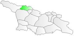 Gruzja, położenie regionu Swanetia