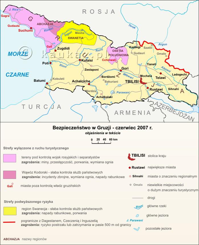Mapa przedstawia obszary wyłączone z ruchu turystycznego oraz strefy ...