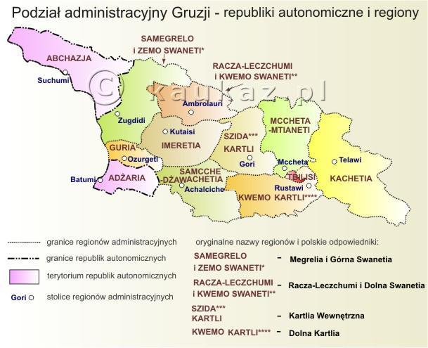 Mapy Gruzji Abchazji I Osetii Pld Rosja Ukraina I Kraje B Zsrr