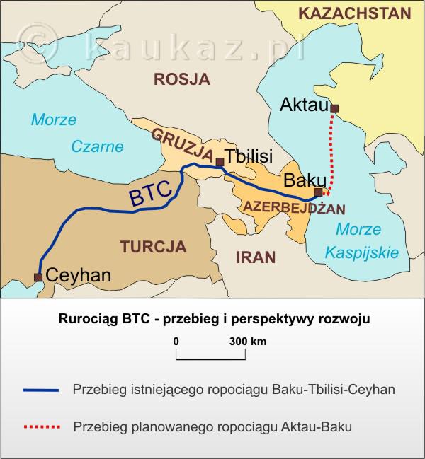 Rurociąg Baku-Tbilisi-Ceyhan (BTC) - przebieg i perspektywy rozwoju